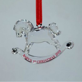 Swarovski Crystal | Silver Crystal | Christmas | Baby's First Christmas Ornament - Annual Edition 2019 | 5439947