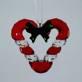 Swarovski Crystal | Christmas | Christmas Ornaments | Christmas Ornament - Candy Cane Heart | 5403314
