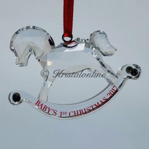 swarovski silver crystal christmas baby s first christmas ornament