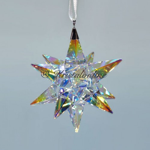 Swarovski Silver Crystal Christmas Ornament 3d Star Aurora