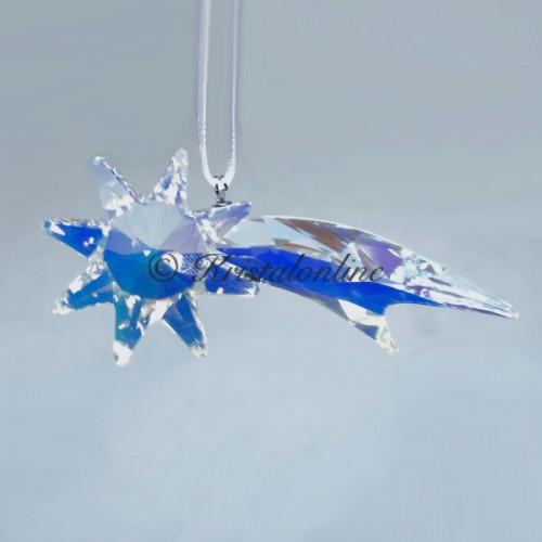 Swarovski Silver Crystal Christmas Shooting Star Ornament