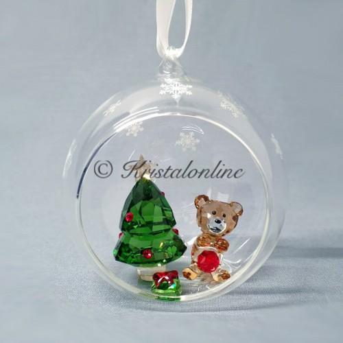 Swarovski Crystal | Christmas | Christmas Ornaments | Christmas Ball Ornament - Christmas Scene | 5533942