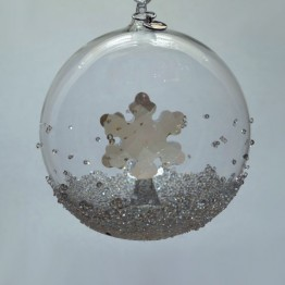 Swarovski Crystal | Silver Crystal | Christmas | Christmas Ball Ornament - Annual Edition 2019 | 5453636