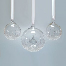 Swarovski Crystal | Silver Crystal | Christmas | Christmas Ball Ornament - Set - Annual Edition 2017 | 5268012