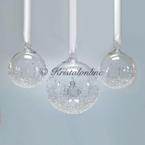 Swarovski Crystal | Silver Crystal | Christmas | Christmas Ball Ornament - Set - Annual Edition 2017 | 5268012