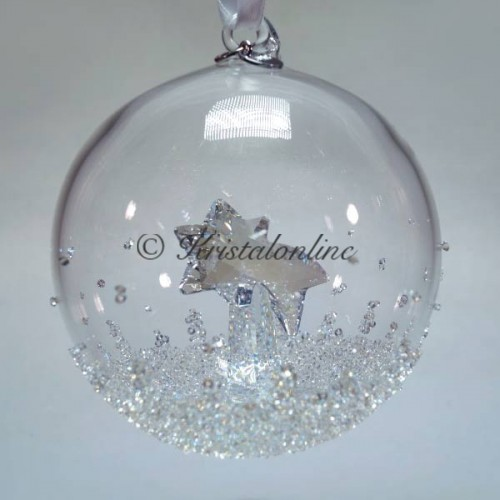 Swarovski Crystal | Silver Crystal | Christmas | Christmas Ball Ornament - Annual Edition 2018 | 5377678
