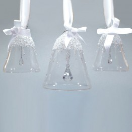 Swarovski Crystal | Silver Crystal | Christmas | Christmas Bell Ornament - Set - Annual Edition 2017 | 5268013