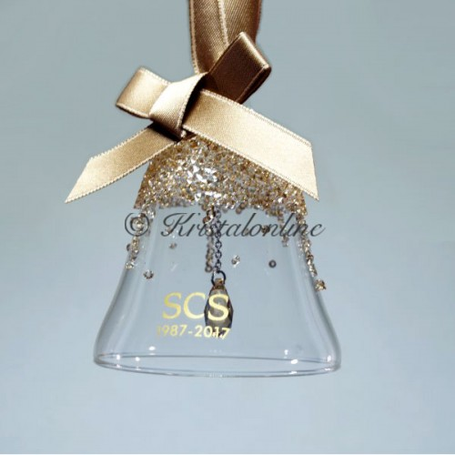 Swarovski Crystal | Silver Crystal | Christmas | SCS - Jubilee Gift 2017 - Bell Ornament | 5295582