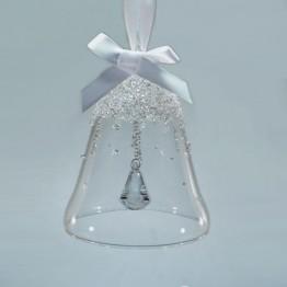 Swarovski Crystal | Silver Crystal | Christmas | Christmas Bell Ornament - Annual Edition 2017 | 5241593