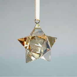 Christmas Ornament - 3D Star - Golden Shadow - Small