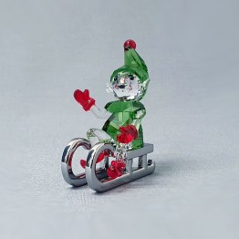 Swarovski Crystal | Christmas | Merry Christmas | Santa's Elf on Sleigh | 5533947