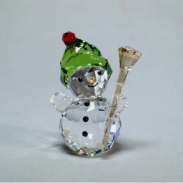 Swarovski Crystal | Christmas | Merry Christmas | Snowman with Broom stick | 5393460