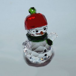 Swarovski Crystal | Silver Crystal | Christmas | Snowman with Red hat | 5288205