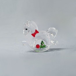 Swarovski Crystal | Silver Crystal | Christmas | Merry Christmas | Rocking Horse - Happy Holidays | 5544529