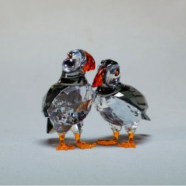Swarovski Crystal | Silver Crystal | Feathered Beauties | Atlantic Puffins | 5472475