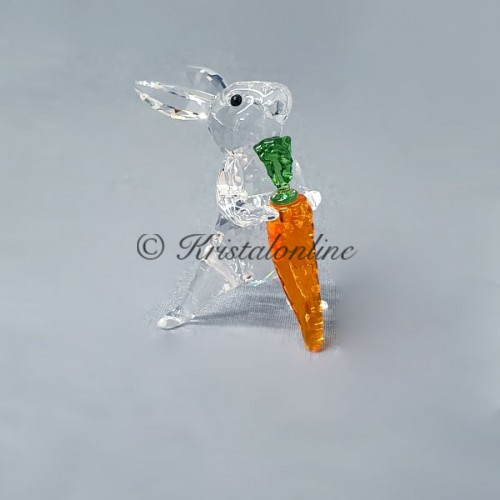 Swarovski Crystal | Silver Crystal | Peaceful Countryside | Rabbit with carrot | 5530687