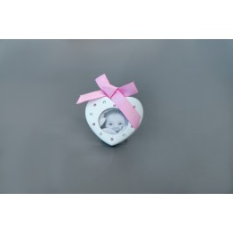 Baby Picture Frame, Light Rose