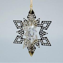 Christmas Ornament Star, Gold Tone
