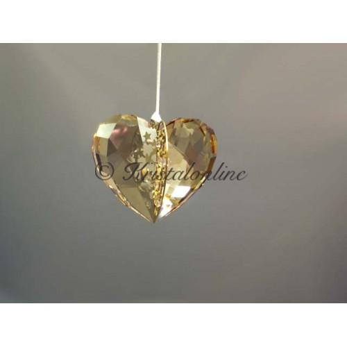 Christmas ornament Heart, Golden Shadow