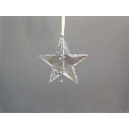 Christmas ornament Star, Silver