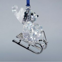 Kris Bear - Christmas Ornament - On Sleigh