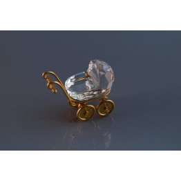 Baby Carriage - Pram, Gold