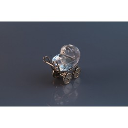 Baby Carriage - Pram, Silver